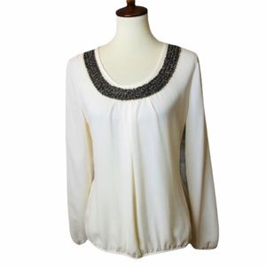 Maurice's Embellished Cream Blouse NWT